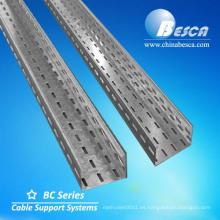 Precio de bandeja de cable de acero ranurada de metal