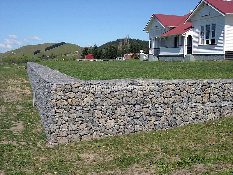 hot dipped galvanized gabion wall