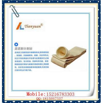 Bolsa de filtro Nomex no tejida resistente al calor