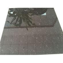 Carreaux de sol en porcelaine poli super noir