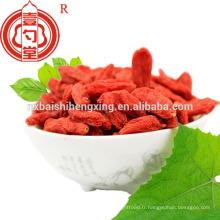 Berry goji china certifié biologique séché ningxia goji berry fruit avec goût sucré et bas prix