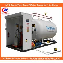 Lp armazenamento de gás 5tone para 10m3 LPG Cylinder Filling Station