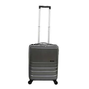 4 wheels PC alloy material luggage set