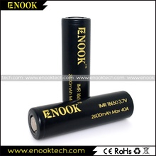 New arrival ENOOK 2600mah 18650 battery