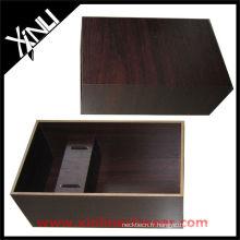Boîte à cravates en bois marron