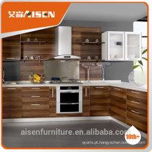 Armário de cozinha moderno de estilo de grão e melinha