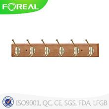 Wall Mounted Foldable Wooden Handbag Hooks