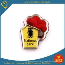 Emblema do Pin do parque nacional no aço inoxidável com cola Epoxy