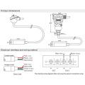 FST700-101 Sonda de sensor de nivel de agua sumergible de alta precisión 0 5V y 0 10V
