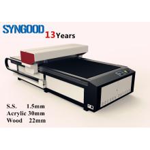 Metal letras para artesanato máquina de corte a laser aço inoxidável 1,5 mm e madeira compensada cutting20mm 1300x2500mm