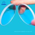 Flat glass lens manufacture