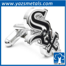 personalize abotoaduras de metal, abotoaduras de branco branco de Chicago feitas sob medida