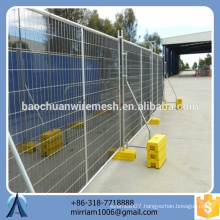 low price Australia hot-dipped galvanized PVC coated welded temporary fence (exporter)