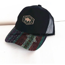 W-Shape Insert Bordados Brushed Algodão Twill Racing Cap