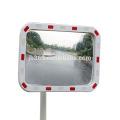 Espejo convexo cuadrado reflexivo del tráfico al aire libre plástico de 60x80cm