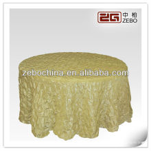 Hot selling design direct factory made wholesale custom roseette satin table cloth
