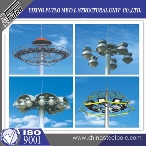 Galvanized high mast lighting tower