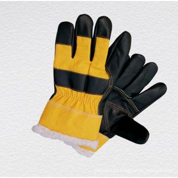Dark Color Furniture Leather Winter Work Glove--4018