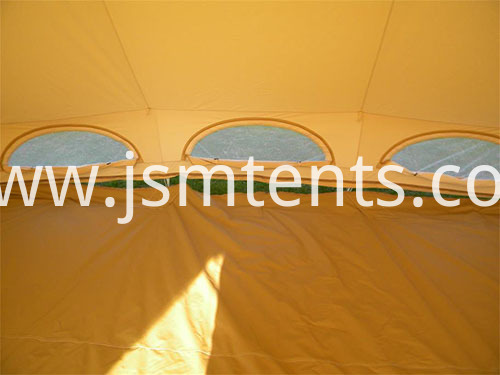 Outdoor Camping with Bell Tents for 6 persons