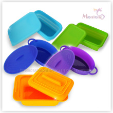 Collapsible Food Container, Foldable Silicone Lunch Box