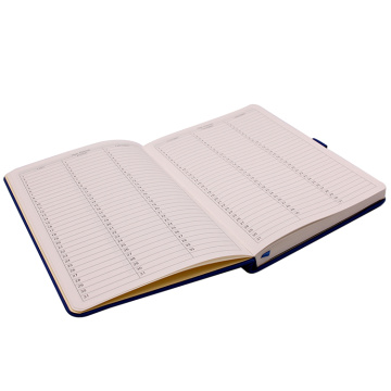 Notebook in pelle su copertina rigida A5 con portapenne