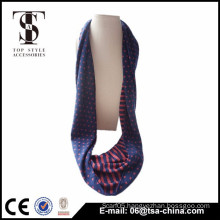 Hot hijab sexy women dark blue and orange 30*156 loop scarf