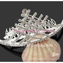 charm crystal tiara comb