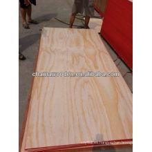 Baratos 12mm pino radiata cara / espalda madera contrachapada comercial con núcleo de álamo