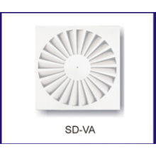 radiador de aire HVAC de difusor de remolinos de aire