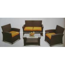 KD 4PCS barato muebles sofá de mimbre