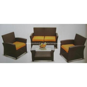 KD 4PCS Sofa de rotin meubles extérieurs pas cher
