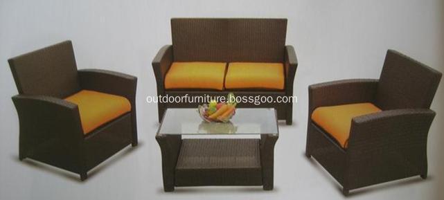 DLR1122 KD 4PCS Cheap Outdoor Furniture Rattan Sofa
