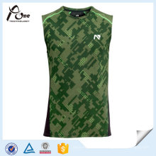 Homem Atacado Running Wear Printing Design Sublimated Singlet