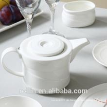 Hot Selling Elegant Hotel Restaurant Fine Bone China Porzellan Kaffee / Rea Tee Topf