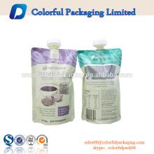 Bolsa de envasado de plástico de 100 ml 200 ml bolsa de chorro de agua plana transparente bolsa de boca de bebida energética