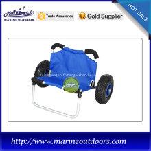 Chariot de kayak de plage, chariot de kayak, roue pneumatique pour chariot