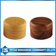 Tarro plástico de la crema de 25g 30g con color de madera