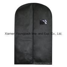 Custom Black Non-Woven Travel Suit Cover Bag