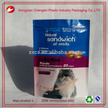 Accept custom order gravure printing plastic cat food bag