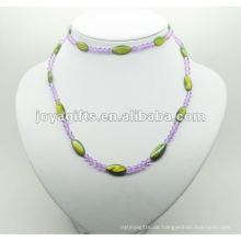 Mode Hämatit Grüne Perle Shell Wrap