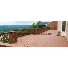 Decking al aire libre de WPC del compuesto de madera al aire libre