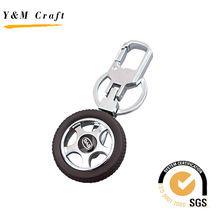 Metall und Kunststoff Wagenrad Modell keychain (Y03895)