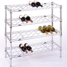 DIY Decorative Funky Metal Wine Rack Shelf, NSF Approval