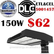 ETL DLC enumeró 5 años de garantía llevó la luz de calle al aire libre 120lm / w 150w al aire libre SMD llevó la luz de la caja de zapatos de la calle
