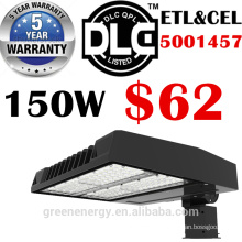 ETL DLC énumérés 5 ans de garantie a mené le réverbère extérieur 120lm / w 150w extérieur SMD a mené la lumière de boîte à chaussures de rue