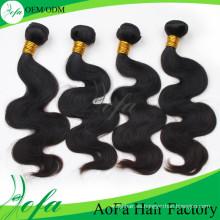 Extensión especial del pelo del pelo ondulado de la Virgen de calidad superior de 24inch Guangzhou