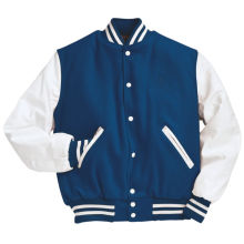 Personalizado de algodón de los hombres con capucha Béisbol Varsity chaqueta en diferentes colores