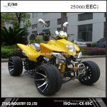 250cc EEC Racing Quad ATV avec roue en alliage de 12 pouces / 14 pouces Refroidi à l'eau