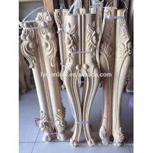 Hand geschnitzte Holztischbein