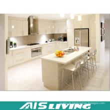 Mobília integrada contemporânea lustrosa do armário de cozinha (AIS-K254)